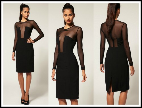 SATURDAY SHOPPING, Asos, mesh paneling, red carpet, dress, daring, lbd