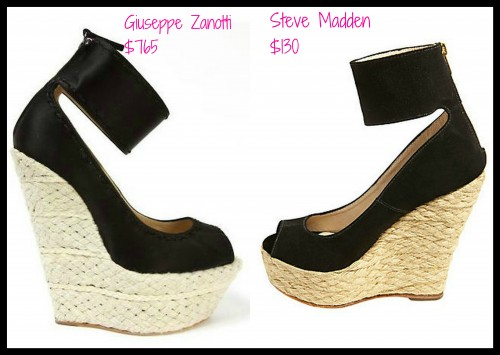 bb2162a46a9d Real or Steal  Giuseppe Zanotti Black Espadrille Wedges VS. Steve ...