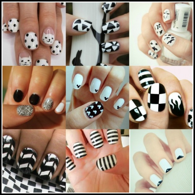 Sweet Treat: Black and White Inspired Nail Art | Ooh La La Blog