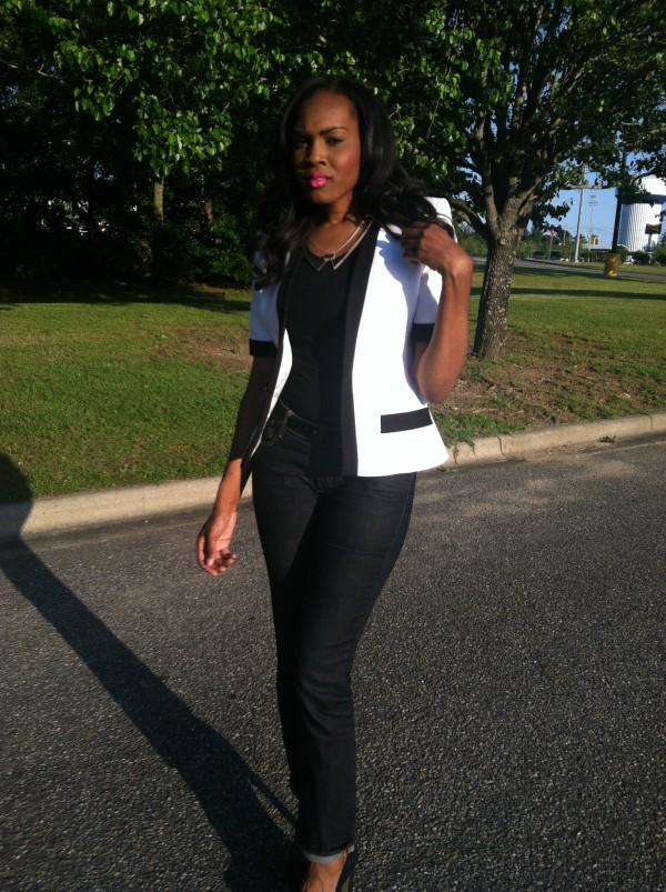 white-black-thrifted-jacket-hm-jeans-black-zigi-pumps-3
