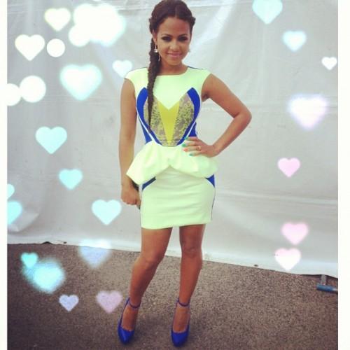 Christina-Milian- Instagram- GUiSHEM-by-Guillermo-Jop- Spring-Summer- 2013-Dress-2