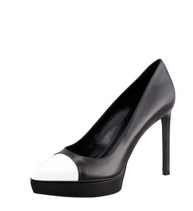 Janelle-Monae-106- Park-TopShop- Grossgain-Collar- Blazer-Grossgain-Wide-Leg -Trousers- Saint-Laurent-Janis Two-Tone-Cap-Toe- Platform-Pumps-6