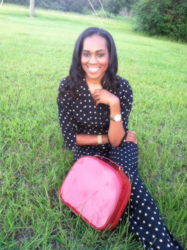 prettyprice-style-files-black-nude-polka-dot-pantsuit-red -patent-leather-purse-red-patent-leather-pumps-7