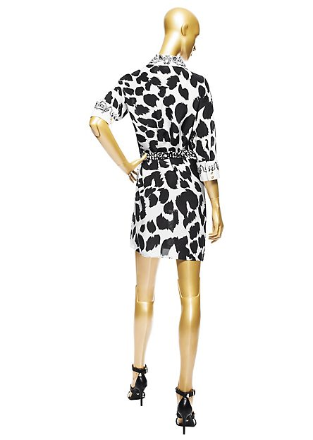 Ciara-Instagram- Versace-Small- Leopard-Shirt- Dress-Sergio- Rossi-Loop- Pumps-4