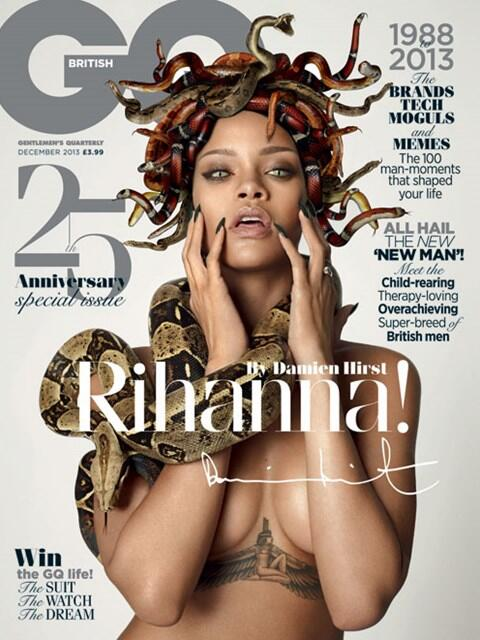 Rihanna-GQ-UK-25TH-ANNIVERSARY-ISSUE-BY-Damien-Hirst-