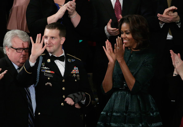 First-Lady-of- Fab-Michelle-Obama-2014-State-of-the-Union- Azzedine-Alaia- Hunter-Green- Dress-and-Jacket-5