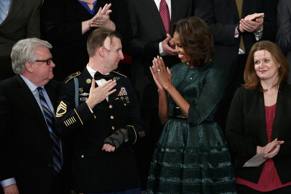 First-Lady-of- Fab-Michelle-Obama-2014-State-of-the-Union- Azzedine-Alaia- Hunter-Green- Dress-and-Jacket-6