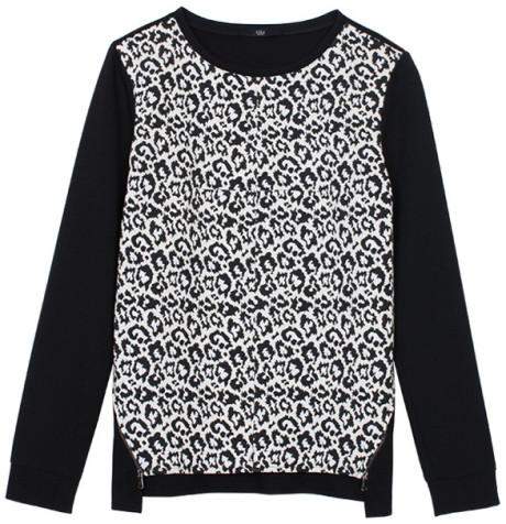 InstaStyle- Beyonce-Instagram-Tibi- Leopard-Print- Sweatshirt-Leopard-Knit- Skirt- Topshop-Pork-Pie Hat -ooh-la-la-blog-2