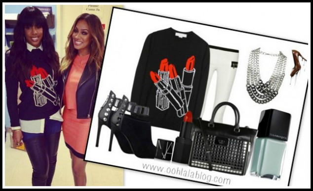 InstaStyle-Kelly- Rowland-attends- LaLa- Anthony-Book- Signing-in-Stella-McCartney-Wool- And Silk-Blend- Lipstick-Intarsia- Sweater-and- Christian- Louboutin- Monicarina- Boots-5