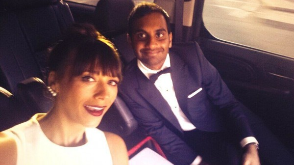 Rashida-Jones-Aziz-Ansari-Golden-Globes