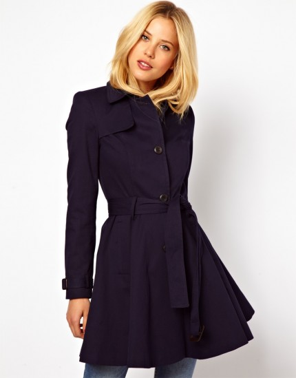 ASOS Skater Trench With Belt