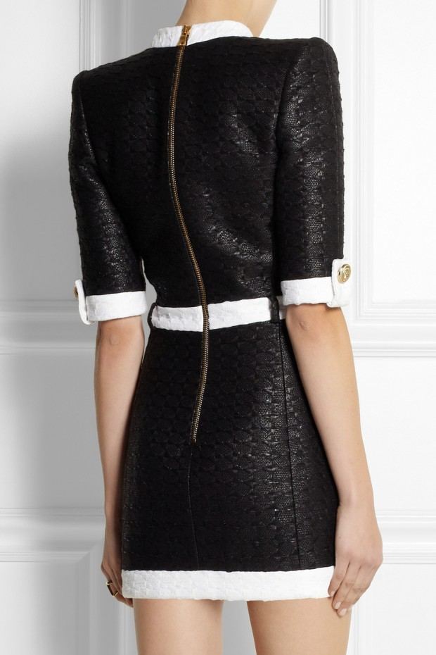 Sweet-Treat of-the- Day-BALMAIN- Coated-tweed-mini dress-2
