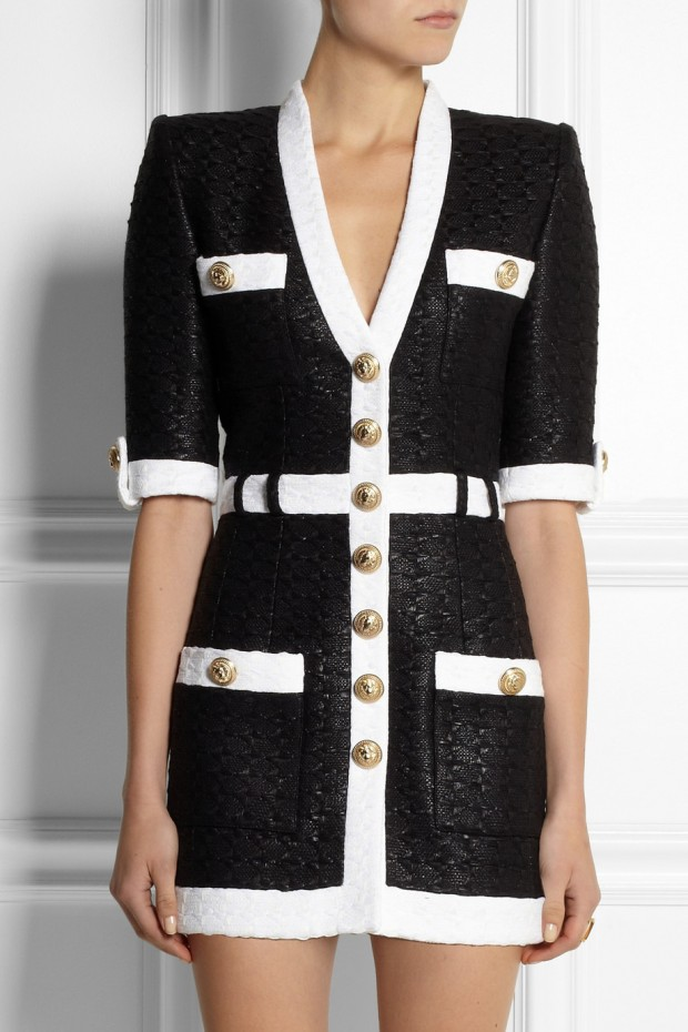 Sweet-Treat of-the- Day-BALMAIN- Coated-tweed-mini dress-3
