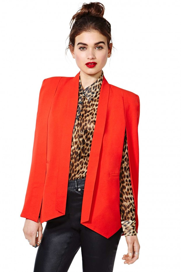 nasty-gal-gold-champagne-taste-cape-blazer-red-3