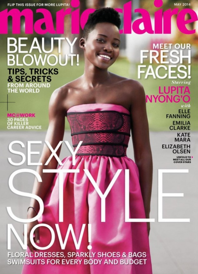 Magazine-Fab-Lupita-Nyongo-for Marie-Claire-May- 2014-