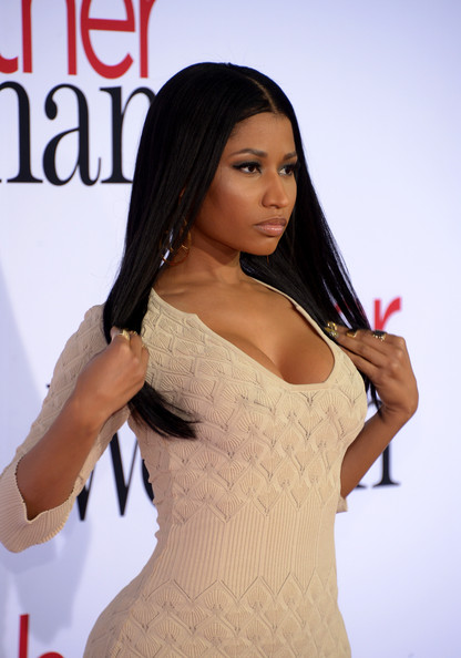 Snag-Her-Style-Nicki- Minaj-The-Other- Woman-LA-Premiere-  Alexander-McQueen- Knit-Gown-