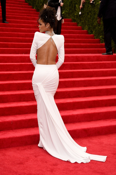 Rihanna-Stella McCartney-white-skirt-crop-top-2014-MET-Gala-