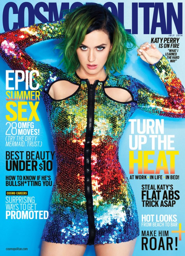 Katy Perry for Cosmopolitan July 2014