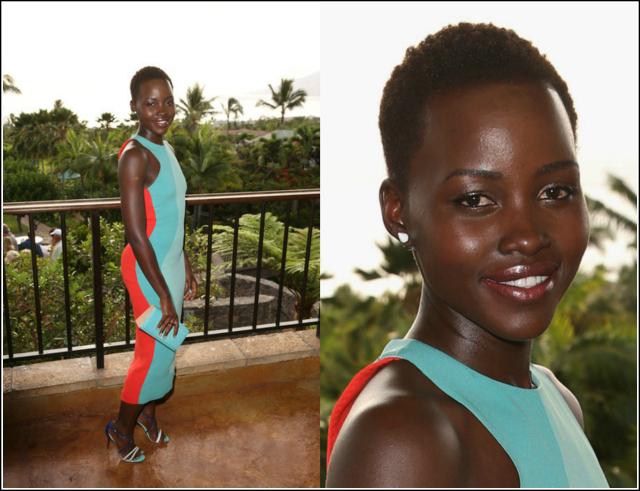 Lupita-Nyongo-  Shines-in-Calvin- Klein-Christian- Louboutin-for-the- 2014-Maui-Film- Festival-5