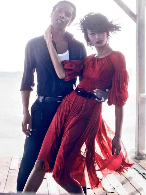 Chanel Iman and A$AP Rocky For VOGUE September 2014-3