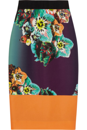 Get Mary-Jane -Milly Multicolor-Sea- Blossom-Printed-Skirt-BeingMaryJane-episode-4-season-2-milly-blue-sea-blossom-printed-stretch-neoprene-skirt-