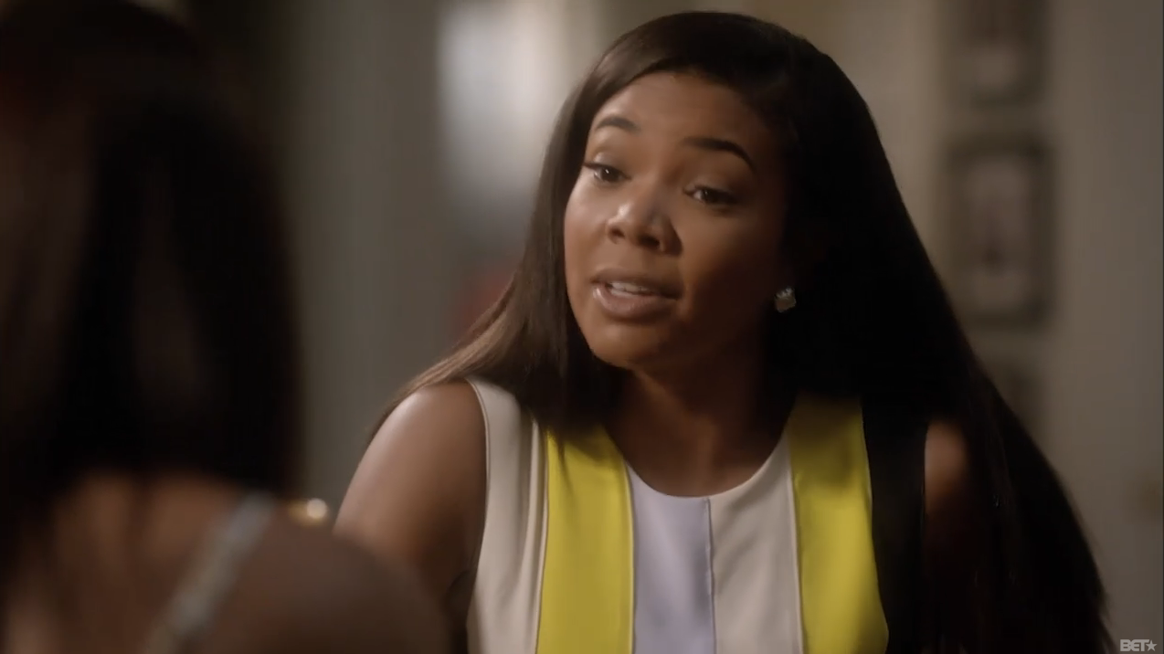 Being-mary-jane-roksanda-ilincic-yellow-wyatt-pleated-crepe-dress-being mary-jane-striped-dress-season-two-episode-six-12
