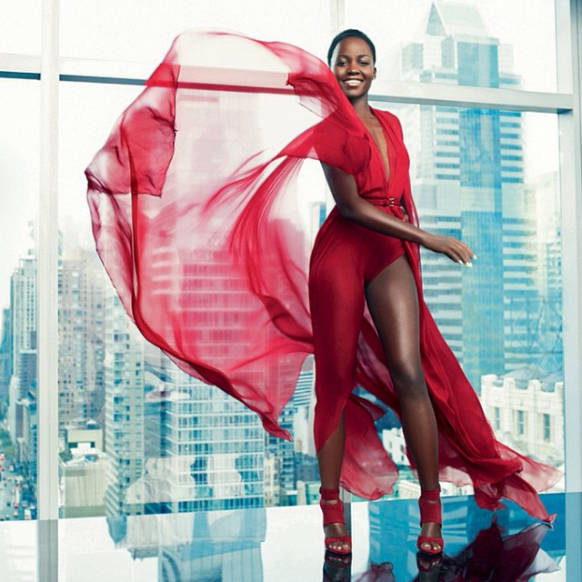Lupita Nyong'o Shines Bright For Paris Match Magazine