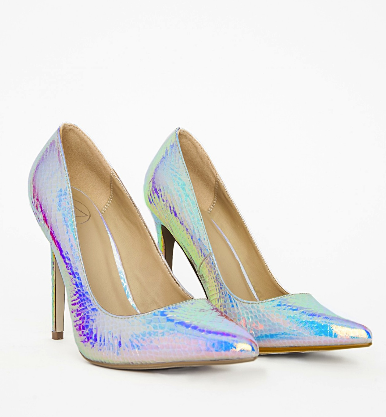 Missguided  Holographic Stiletto Heels