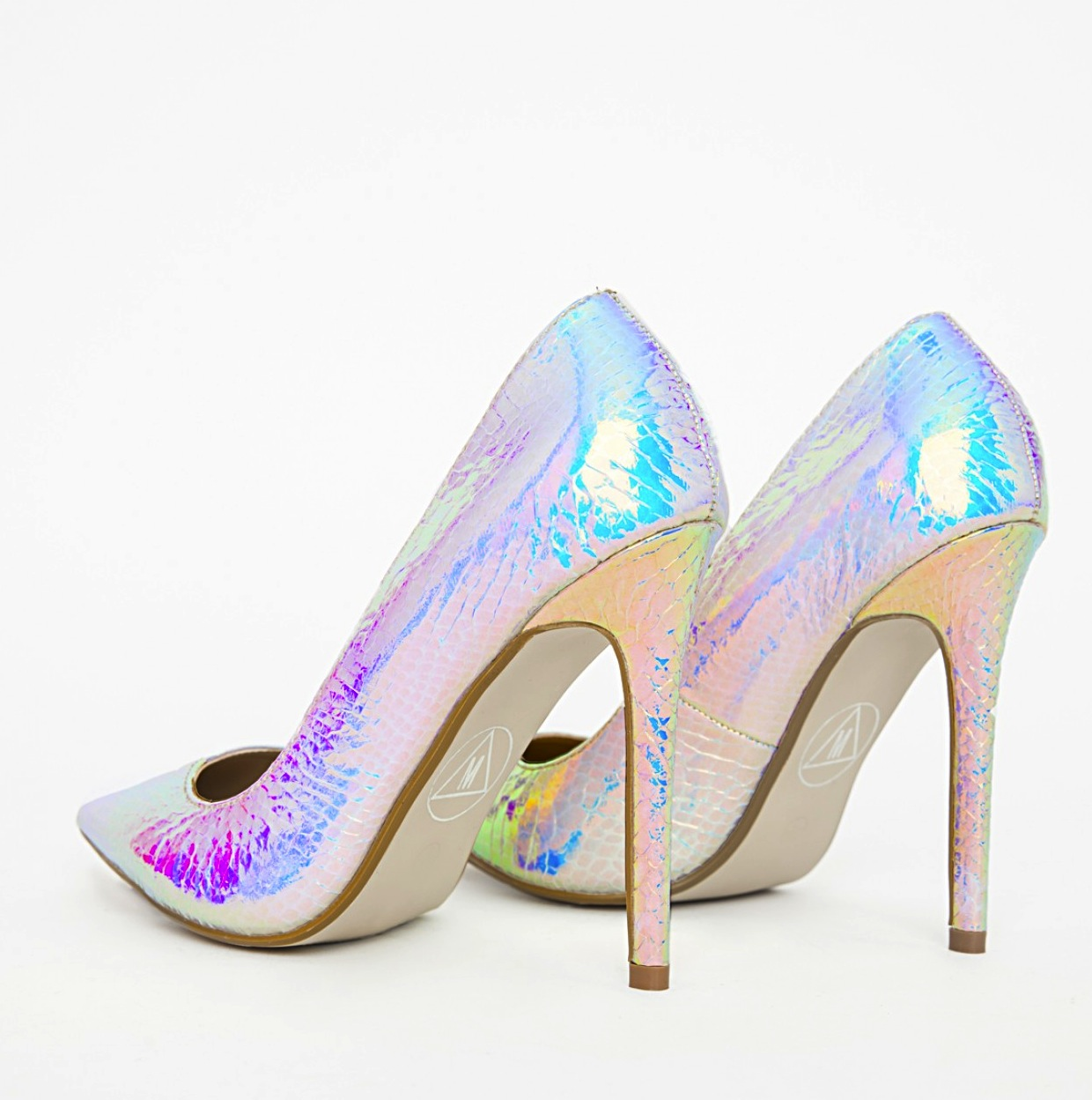 Missguided  Holographic Stiletto Heels3