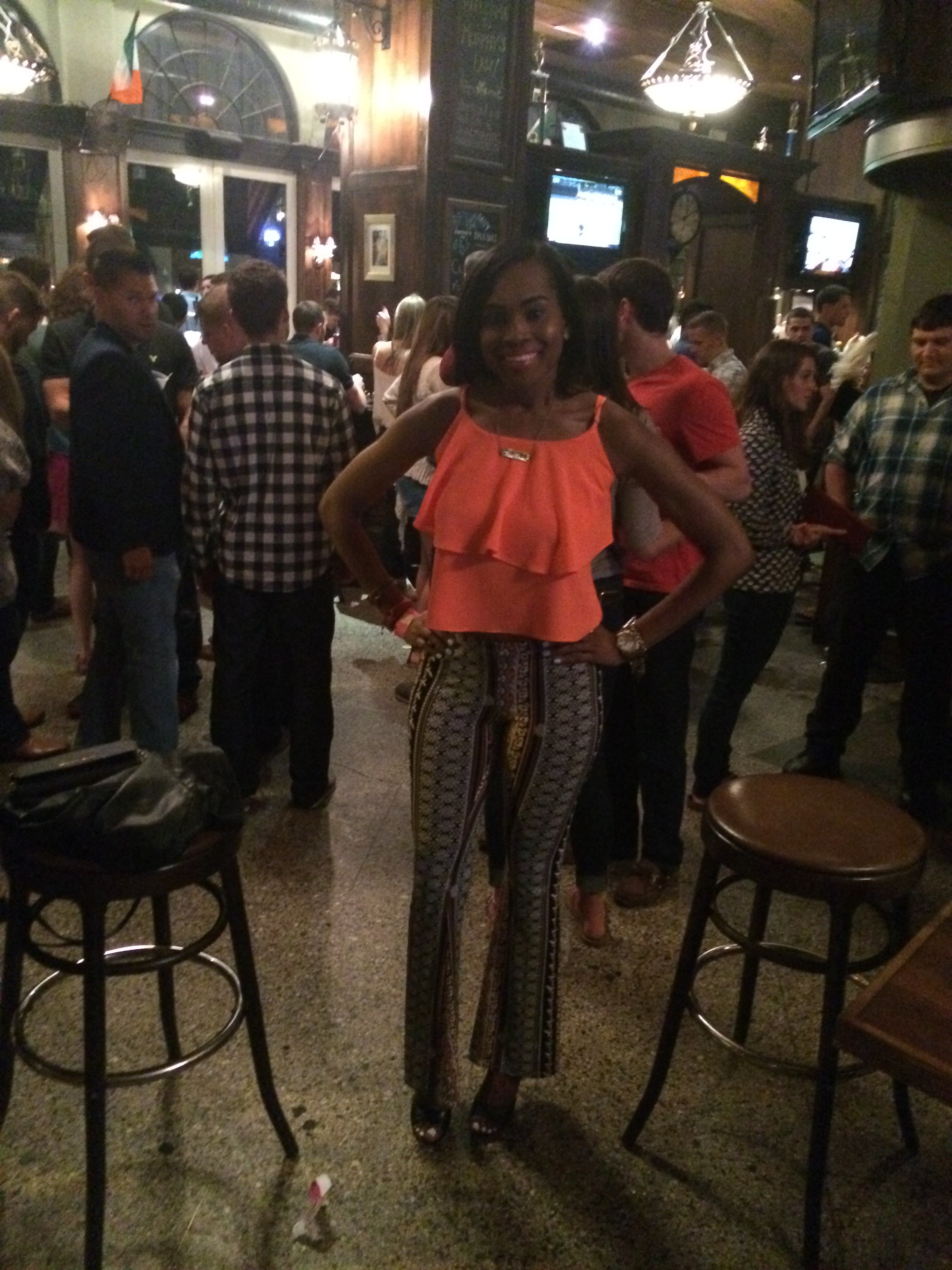 Style-files-Love Tree Happens-bell-bottoms-coral-blouse-black-Steve Madden Mayven Heel Sandals-birthday-jday-oohlalablog-