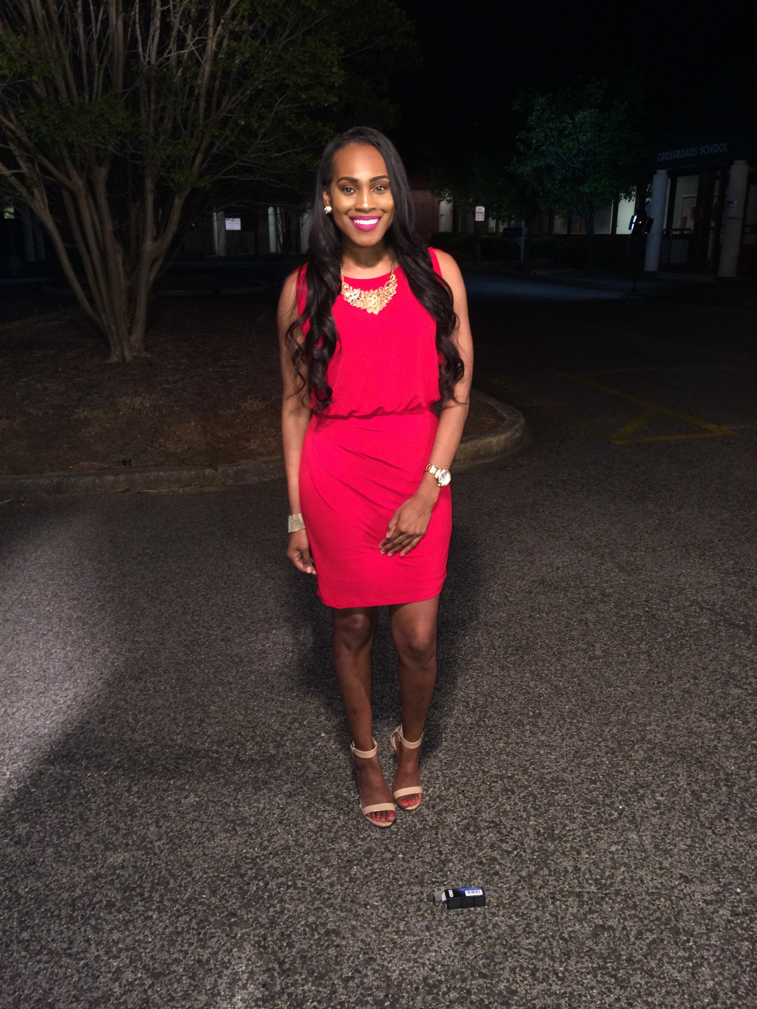 Style-Files-Red-thrifted-Eliza-J-dress-Mossimo-Nude-Ankle-strap-sandals-oohlalablog-