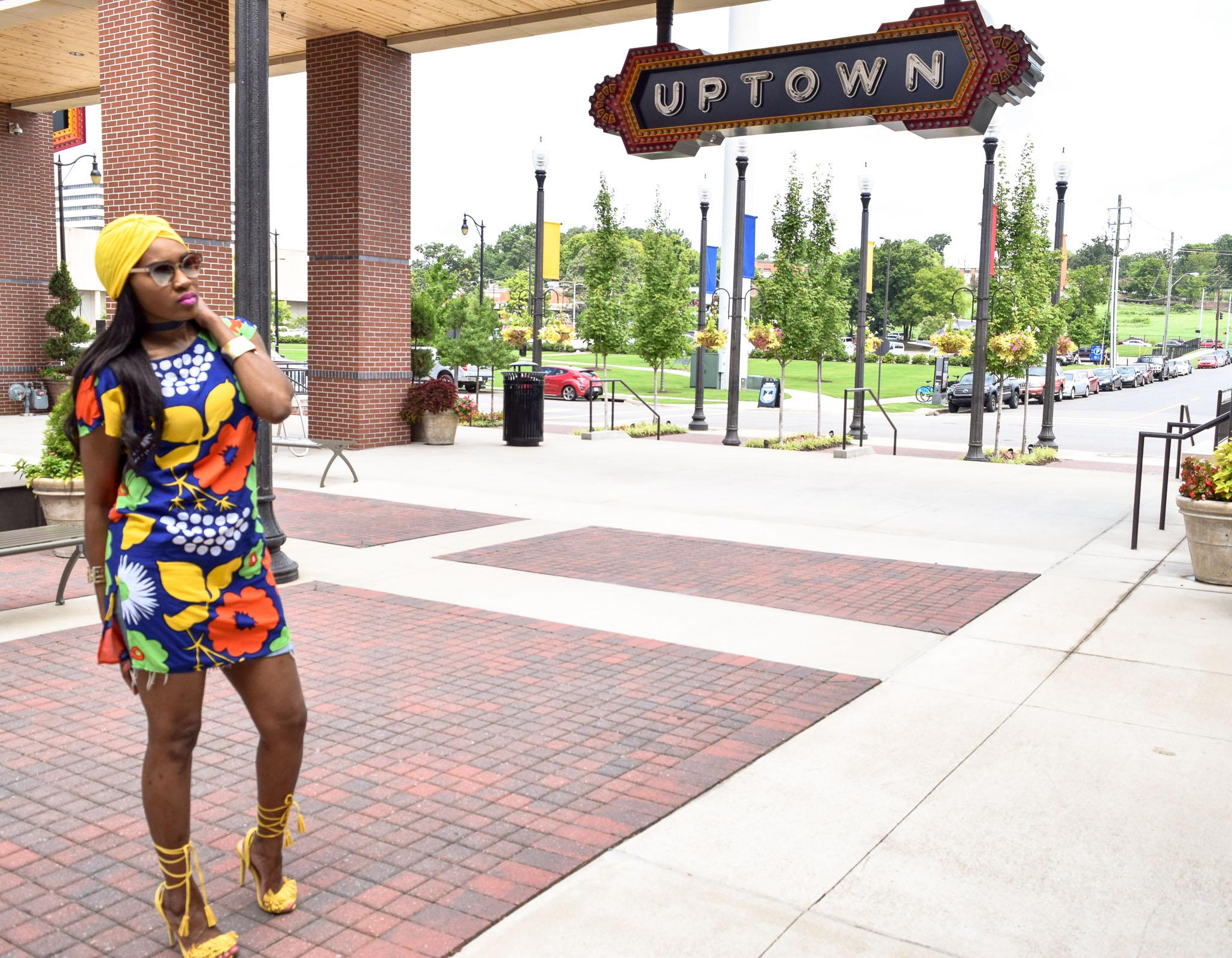 Style-Files-Target-Marimeko-collection -floral-tunic-justfab-tayrey-yellow-fringe-heels-sandals-yellow-turban-asos-denim-choker-oohlalablog-12