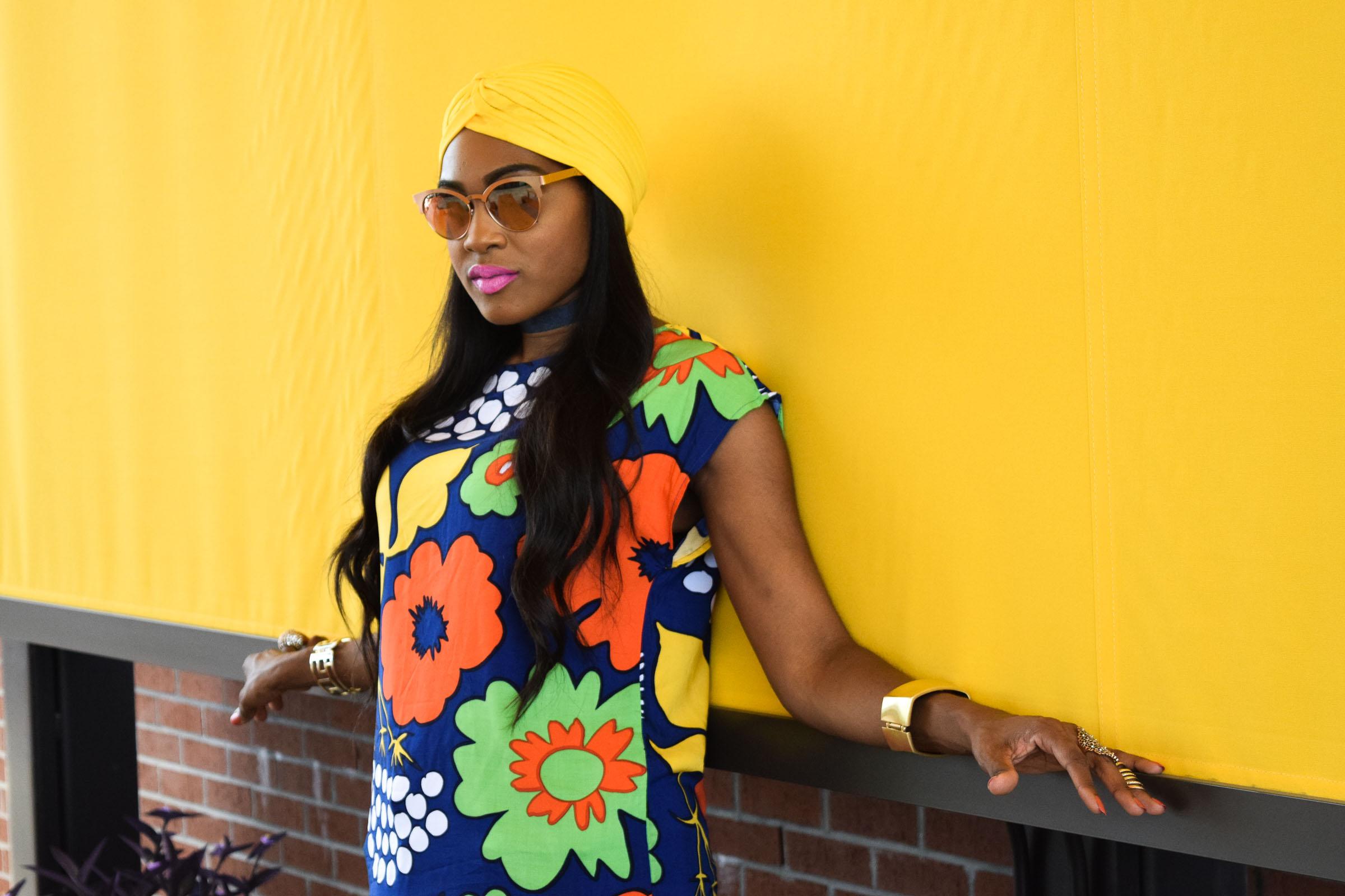 Style-Files-Target-Marimeko-collection -floral-tunic-justfab-tayrey-yellow-fringe-heels-sandals-yellow-turban-asos-denim-choker-oohlalablog-13
