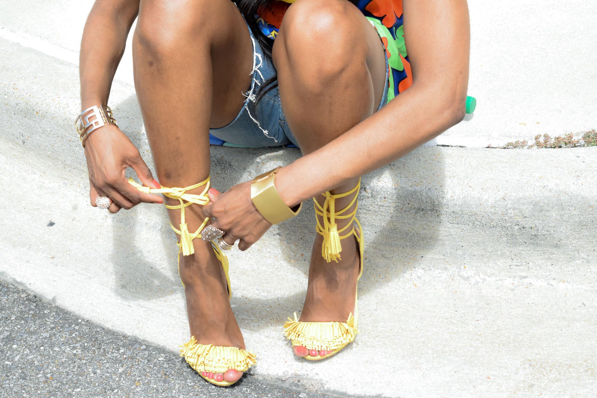 Style-Files-Target-Marimeko-collection -floral-tunic-justfab-tayrey-yellow-fringe-heels-sandals-yellow-turban-asos-denim-choker-oohlalablog-20