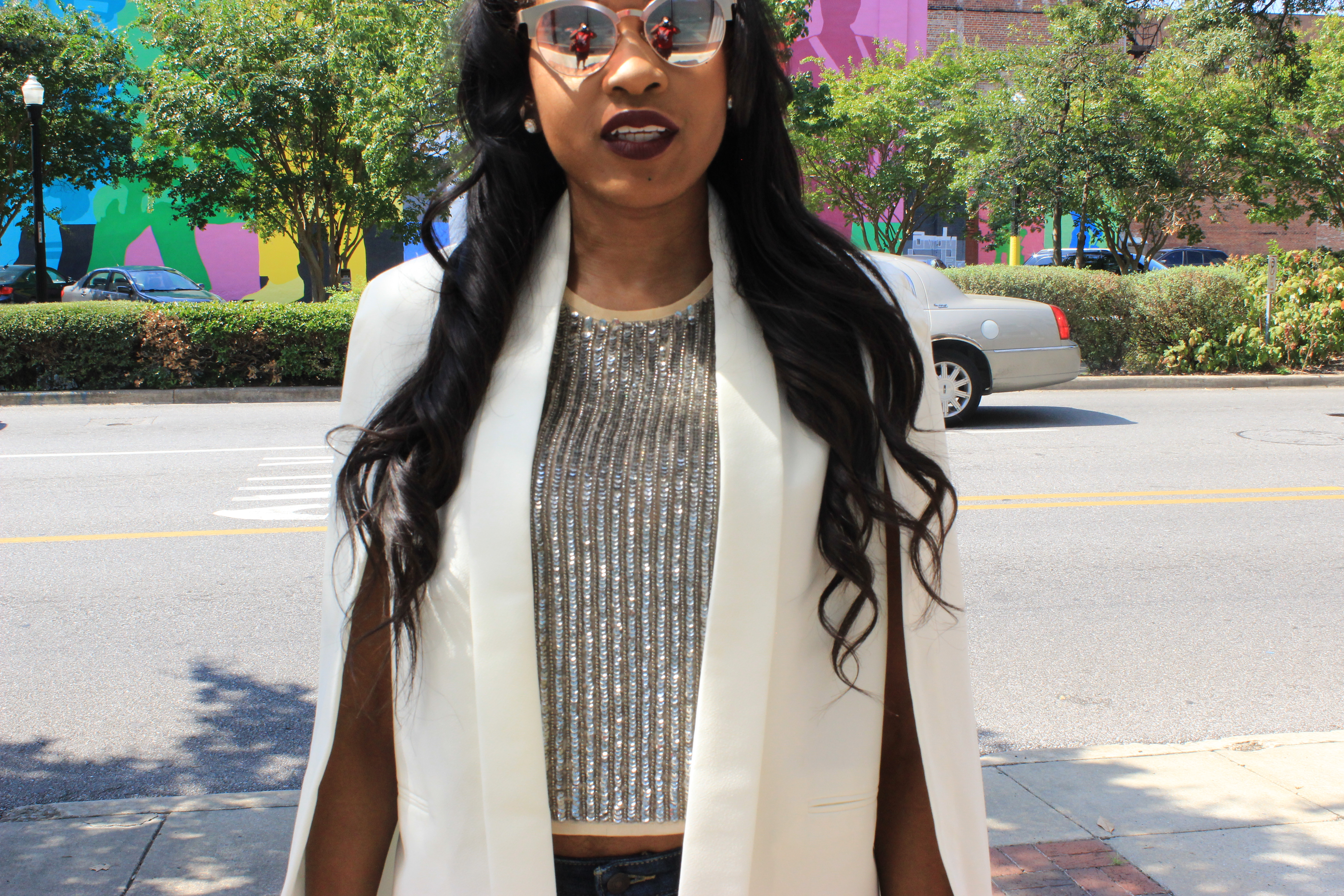 Style-Files-Transitioning from-summer-to-fall-WhoWhatWear-Target-Cape-Jacket-Forever-21-Sheer-Nude-Sequin-tank-top-Target-Mossimo-Boyfriend-Jeans-On-a-evel-nasty-gal-suede-nude-sandals-WetnWild-Fall-Dont-be-a-plum-plum-matte-liquid-lipstick-8