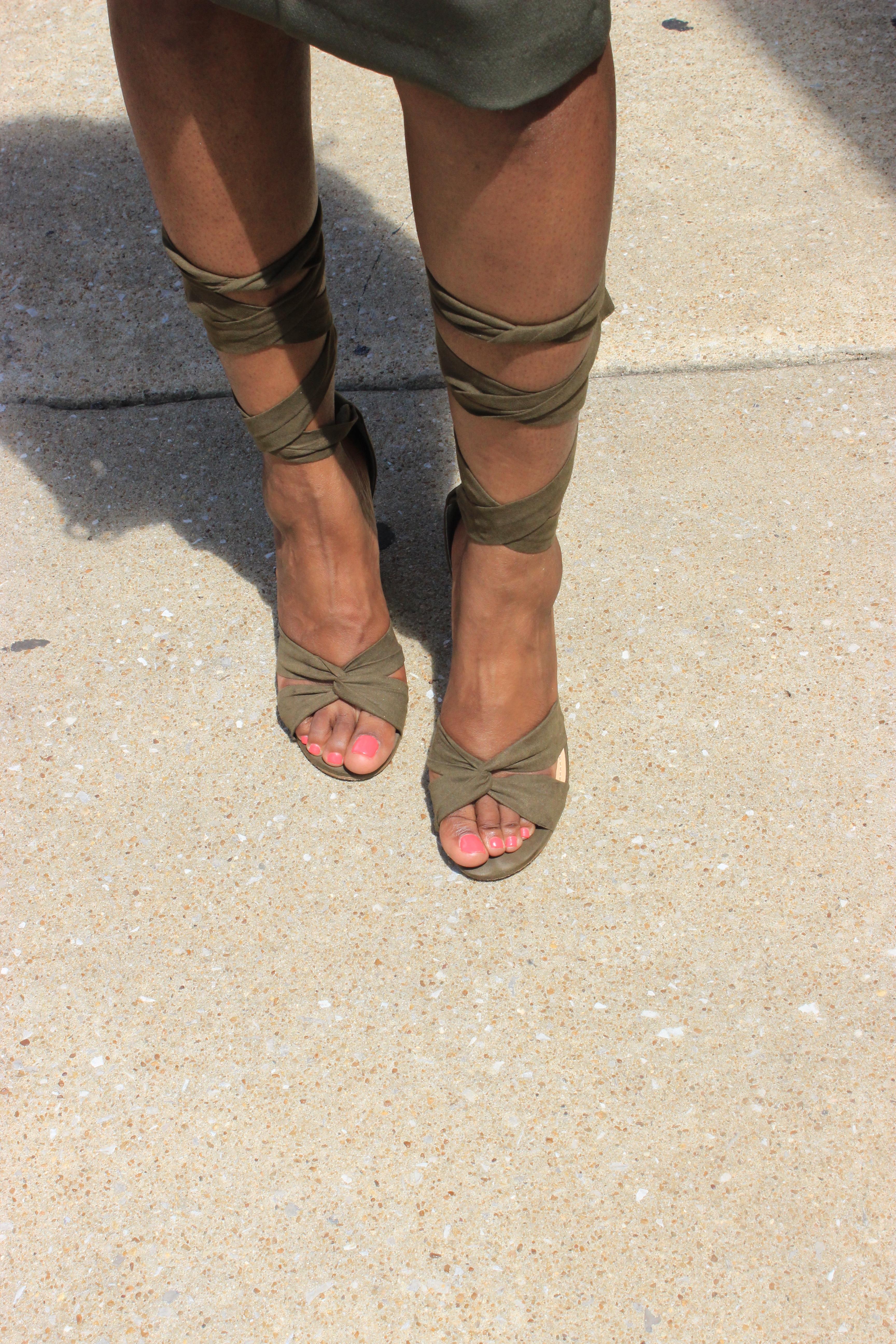 Style-Files-khaki-Vesper Cold-Shoulder-Pencil-Midi-Dress-JustFab-Acacia-Heeled-Sandals-Olive-Green-how to-wear-olive-green-how-to-wear-khaki-oohlalablog-13