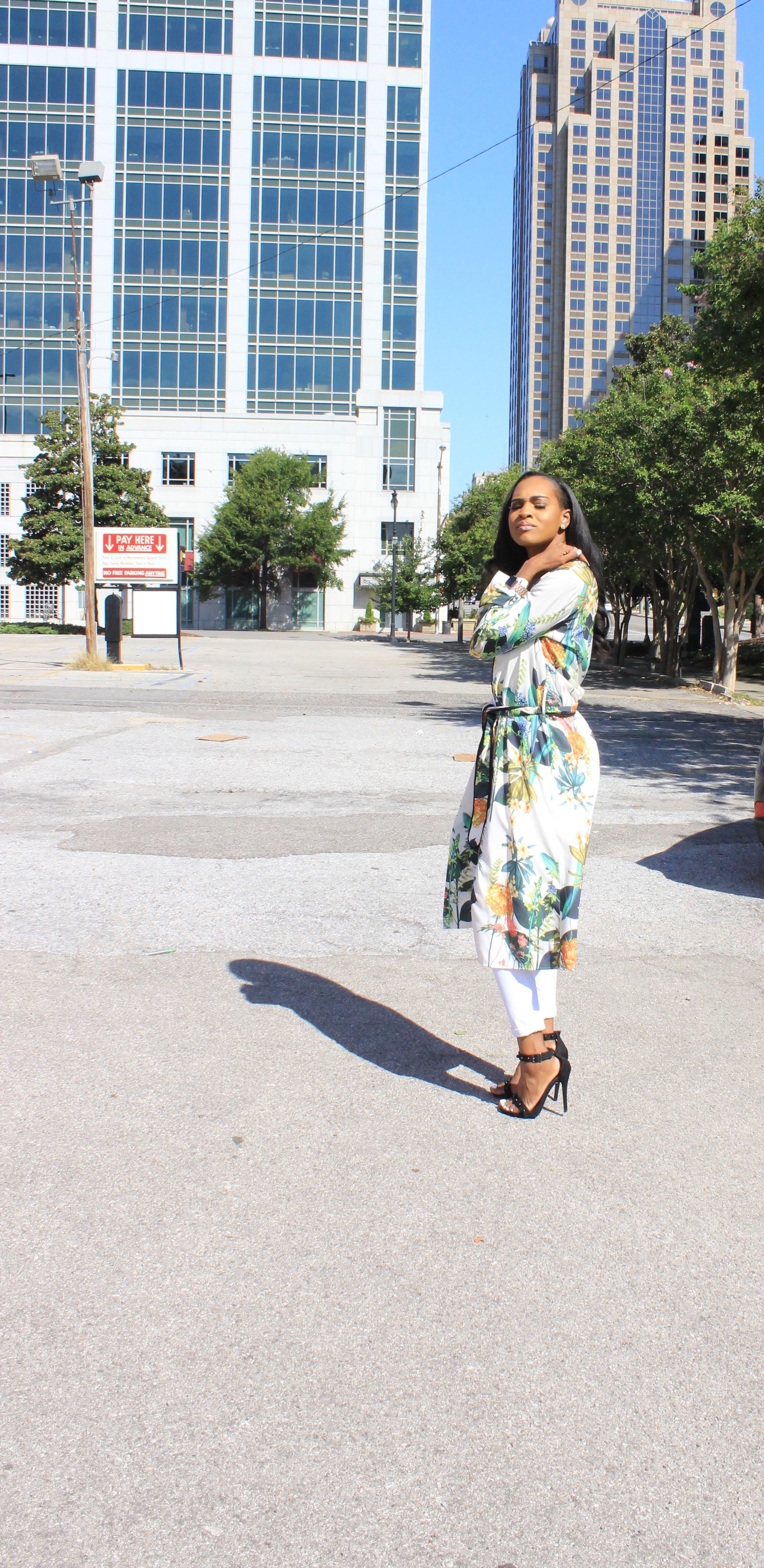 Style-files-White-Civil-Skinny-Jeans-forever-21-white-bodysuit-shein-white-floral-Open Front Longline Kimono -Cape-Ribbon-black-Meg Ankle Strap Beaded Heel-Cape-Ribbon-studded-ankle-strap-sandals-oohlalablog-