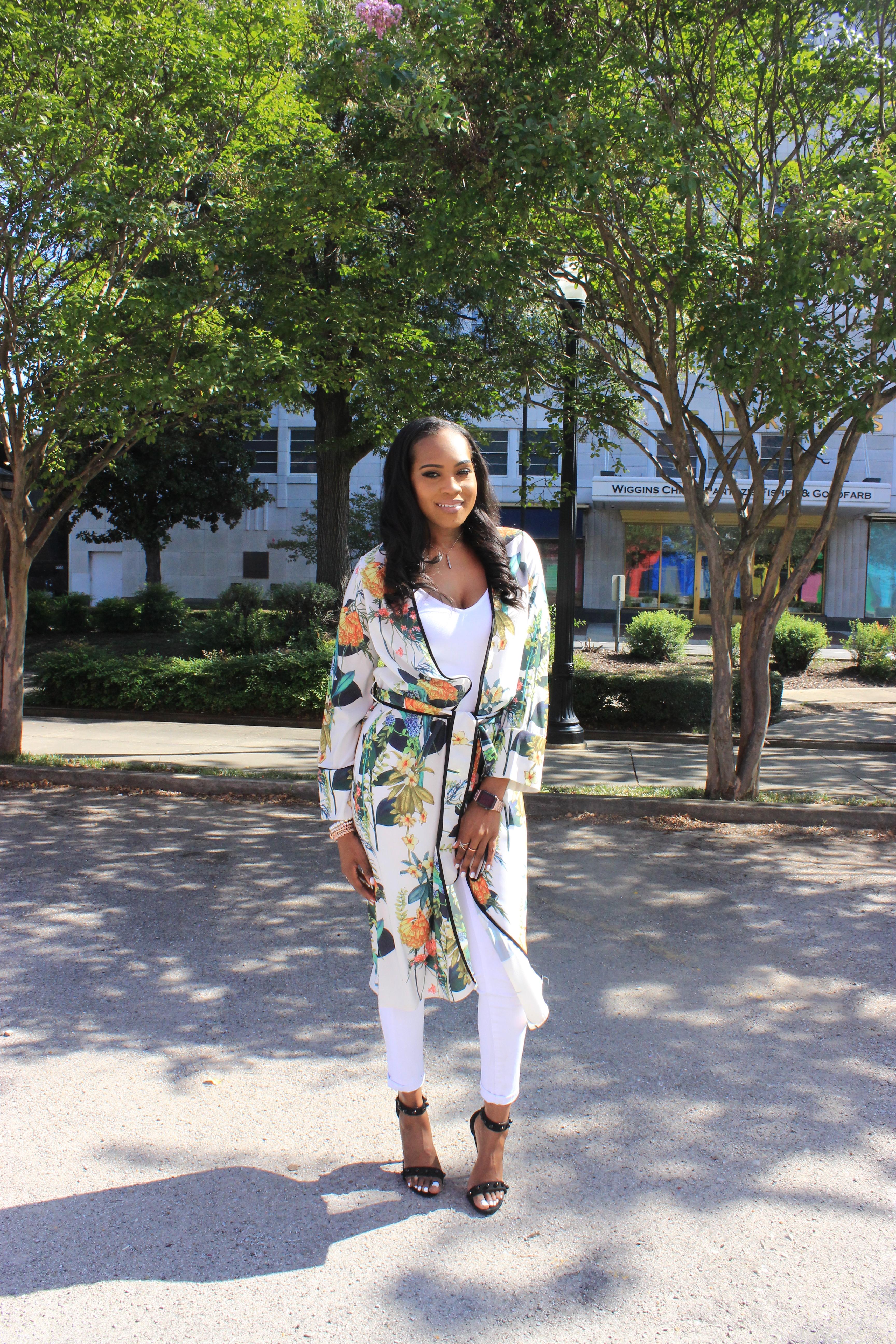 Style-files-White-Civil-Skinny-Jeans-forever-21-white-bodysuit-shein-white-floral-Open Front Longline Kimono -Cape-Ribbon-black-Meg Ankle Strap Beaded Heel-Cape-Ribbon-studded-ankle-strap-sandals-oohlalablog-2