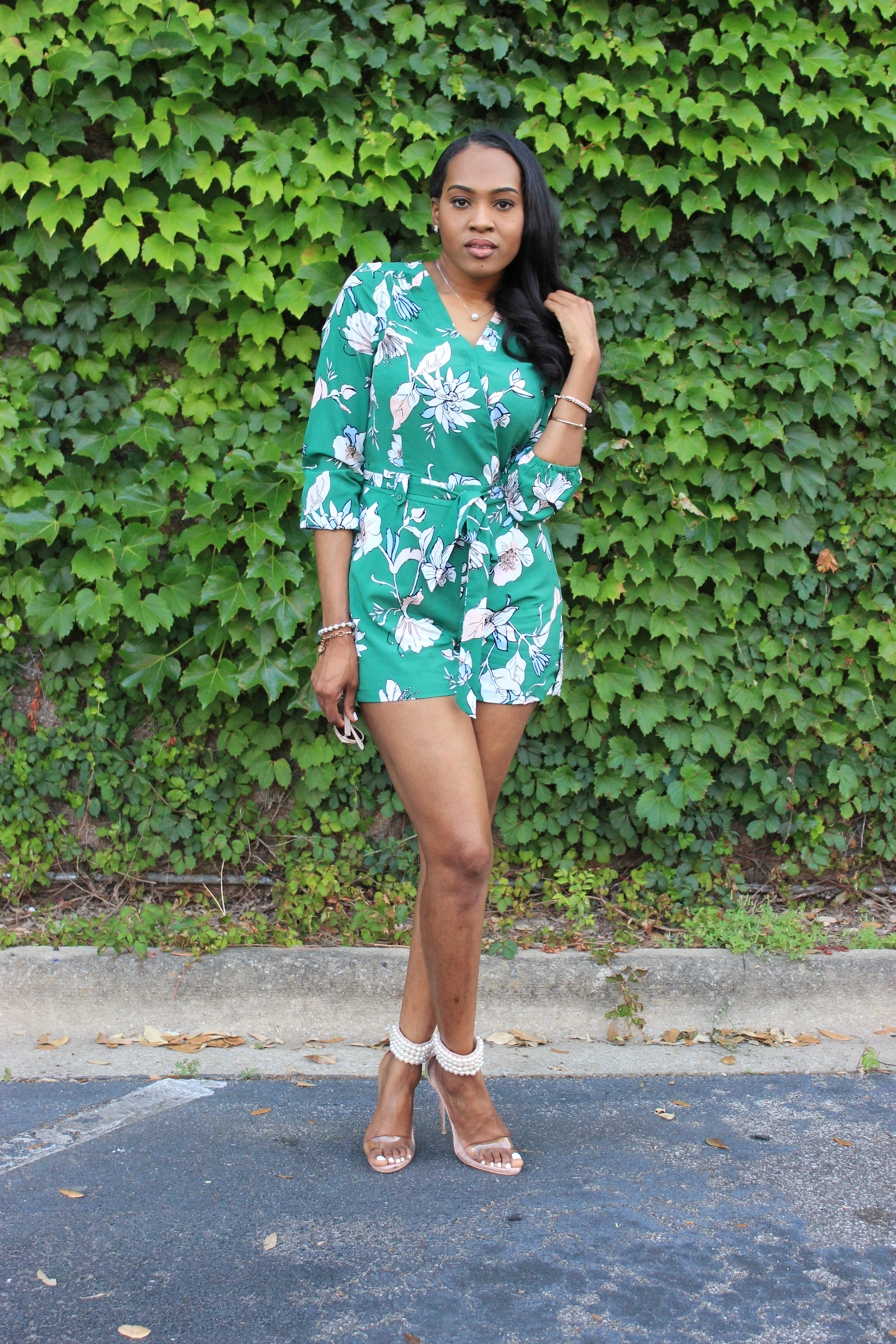 0b5cafdce948db style-files-Carolina-belle-green-floral-romper-missguided-. Weekend ...