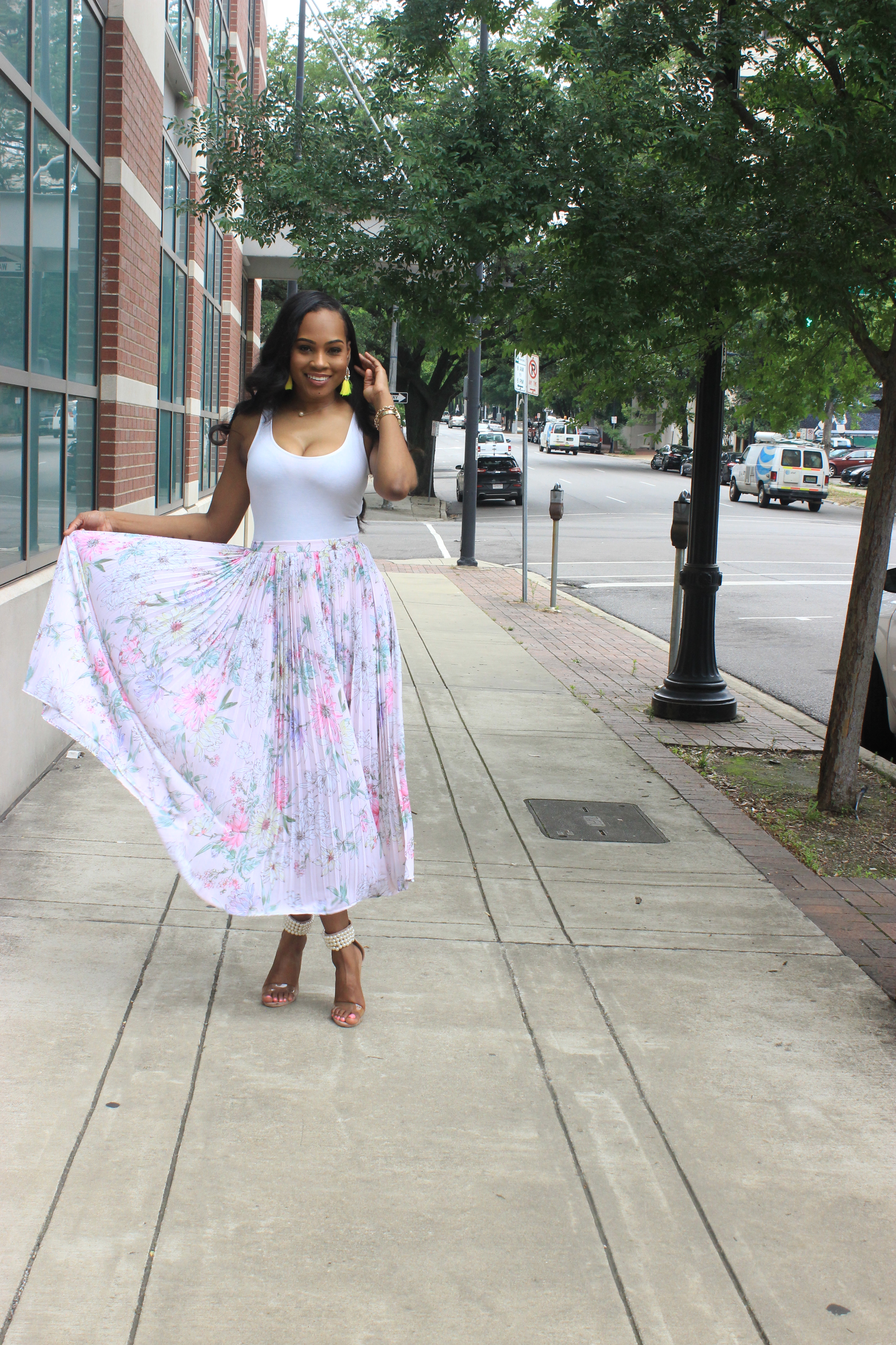 Style-files-hm-pleated-pastel-pink-floral-pleated-midi-skirt-forever21-bodysuit-misguided-pearl-ankle-strap-heel-sandals-oohlalablog-top-Birmingham-Alabama-blogger-4