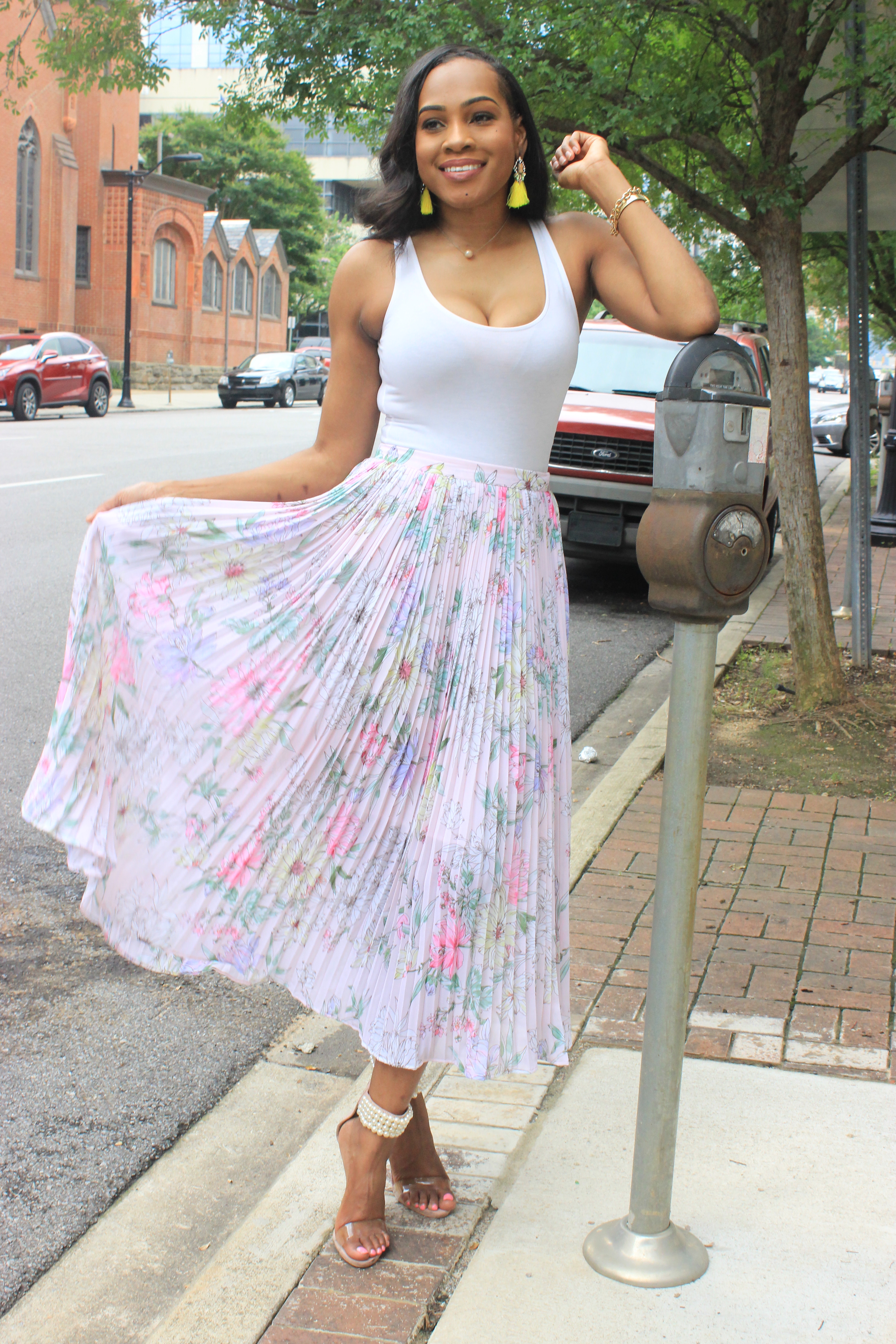 Style-files-hm-pleated-pastel-pink-floral-pleated-midi-skirt-forever21-bodysuit-misguided-pearl-ankle-strap-heel-sandals-oohlalablog-top-Birmingham-Alabama-blogger-7